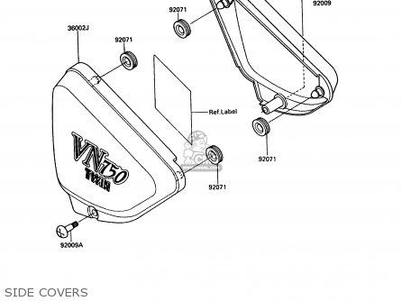 Kawasaki 1987 A3: Vn750 parts list partsmanual partsfiche
