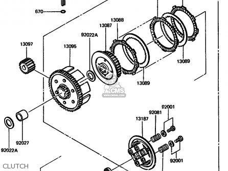 Kawasaki 1987 A5: Ar125 parts list partsmanual partsfiche