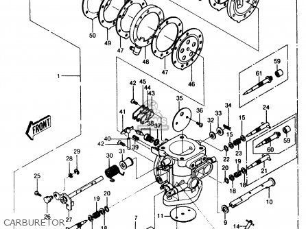 Kawasaki 1987 A6: Js550 parts list partsmanual partsfiche