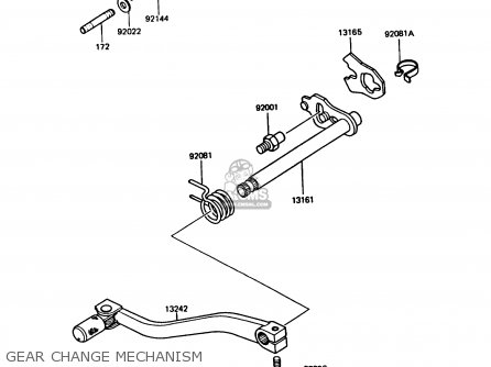 Kawasaki 1987 B2: Kmx125 parts list partsmanual partsfiche