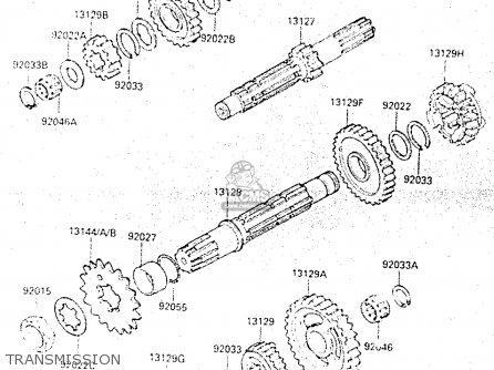Kawasaki 1987 C1: Kx500 parts list partsmanual partsfiche