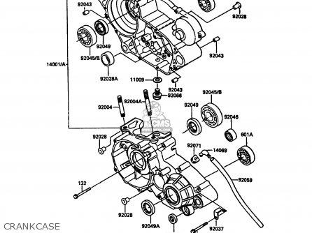 Kawasaki 1987 C2: Kdx200 parts list partsmanual partsfiche