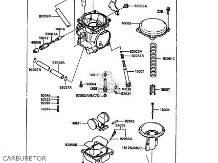 Kawasaki 1987 D4: Kl250 parts list partsmanual partsfiche