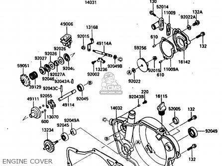 Kawasaki 1987 E1: Kx250 parts list partsmanual partsfiche