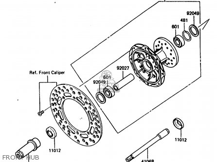 Kawasaki 1987 E1: Kx250 parts list partsmanual partsfiche