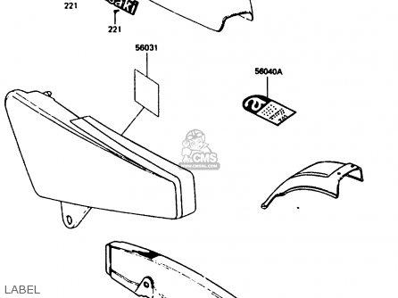 Kawasaki 1987 G8: Kh100 parts list partsmanual partsfiche