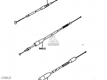 Kawasaki 1987 H2: Kx80 parts list partsmanual partsfiche