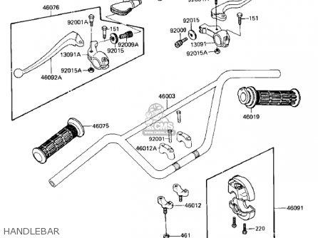 Kawasaki 1987 Kd80-m8 Kd80 parts list partsmanual partsfiche