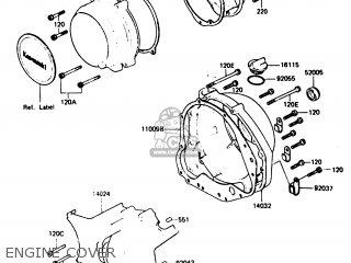 Kawasaki 1987 P5: Z750 parts list partsmanual partsfiche