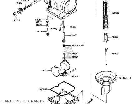 Kawasaki 1988 A2: Ex500 parts list partsmanual partsfiche