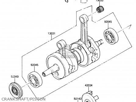 Kawasaki 1988 A2: Js650(sx) parts list partsmanual partsfiche