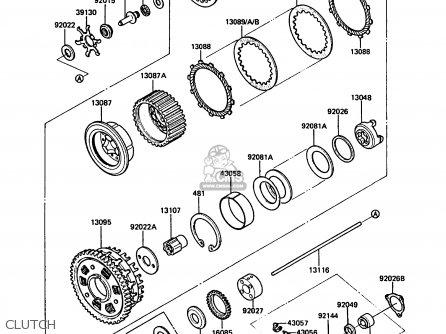 Kawasaki 1988 A3a: Zg1000 parts list partsmanual partsfiche