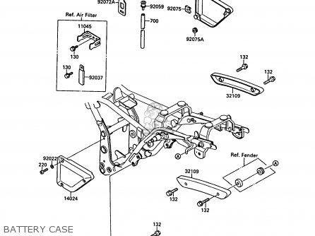Kawasaki 1988 B2: El250 parts list partsmanual partsfiche