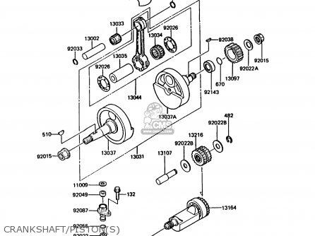 Kawasaki 1988 B3: Kmx125 parts list partsmanual partsfiche