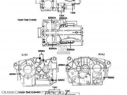 Kawasaki 1988 B3: Kz305 (north America) parts list