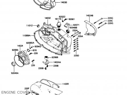 Kawasaki 1988 B7: Ke100 (north America) parts list
