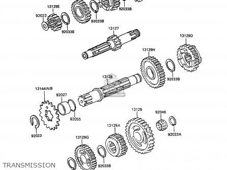 Kawasaki 1988 D1: Kx500 parts list partsmanual partsfiche