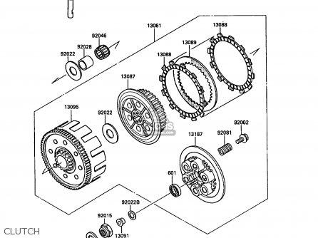 Kawasaki 1988 F1: Kx250 parts list partsmanual partsfiche