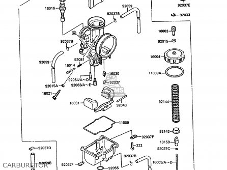 Kawasaki 1988 F1: Kx125 parts list partsmanual partsfiche