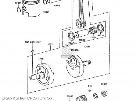 Kawasaki 1988 F1: Kx125 parts list partsmanual partsfiche