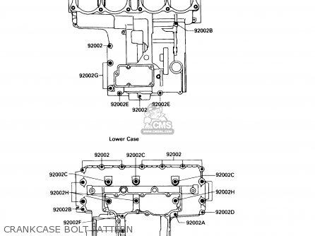 Kawasaki 1988 F2: Zx750 (north America) parts list