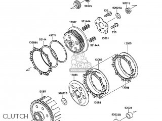 Kawasaki 1989 A1: Kx100 parts list partsmanual partsfiche