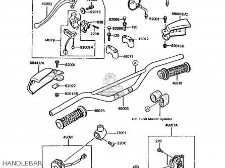 Kawasaki 1989 A3a: Kmx200 parts list partsmanual partsfiche