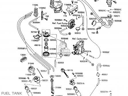Kawasaki 1989 A4: Jf650 parts list partsmanual partsfiche