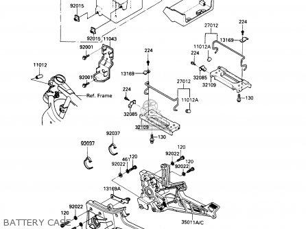 Kawasaki 1989 A6: Zx900 parts list partsmanual partsfiche