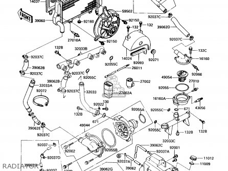 Kawasaki 1989 A6: Zx900 parts list partsmanual partsfiche