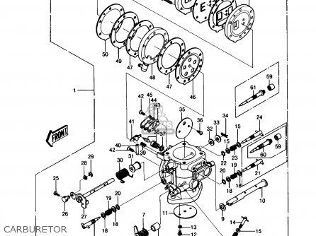 Kawasaki 1989 A8: Js550 (north America) parts list