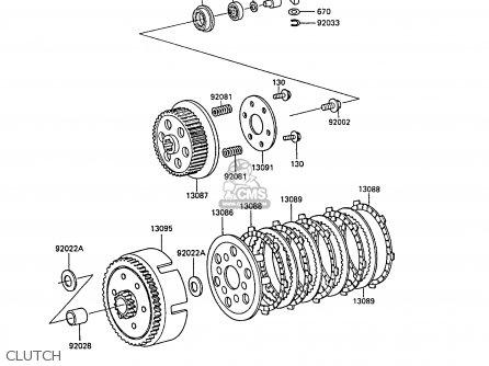 Kawasaki 1989 B5: Kx60 parts list partsmanual partsfiche