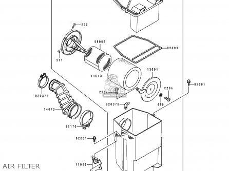 Kawasaki 1989 C1: Klf300 parts list partsmanual partsfiche