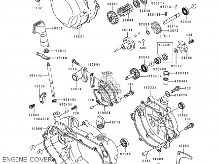 Kawasaki 1989 E1: Kdx200 parts list partsmanual partsfiche