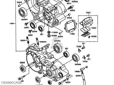 Kawasaki 1989 G1: Kx125 parts list partsmanual partsfiche