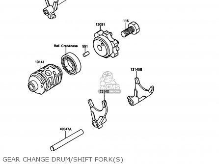 Kawasaki 1989 G1: Kx125 parts list partsmanual partsfiche