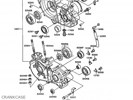 Kawasaki 1989 G1: Kx250 parts list partsmanual partsfiche