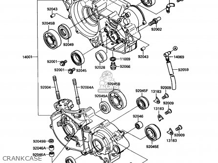 Kawasaki 1989 G1: Kx250 (north America) parts list