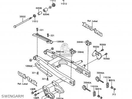 Kawasaki 1989 L2: Kx80 parts list partsmanual partsfiche