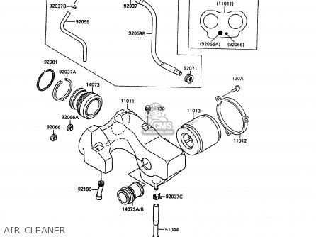 Kawasaki 1990 A1: En500 parts list partsmanual partsfiche