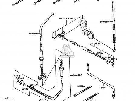 Kawasaki 1990 A3: Klf220 parts list partsmanual partsfiche