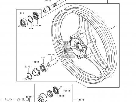 Kawasaki 1990 A4: Ex500 (north America) parts list