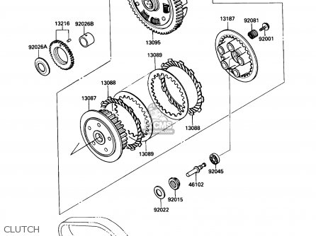 Kawasaki 1990 A6: En450 (north America) parts list