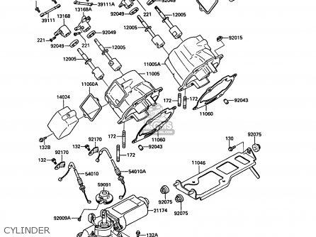 Kawasaki 1990 C2: Kr250 parts list partsmanual partsfiche
