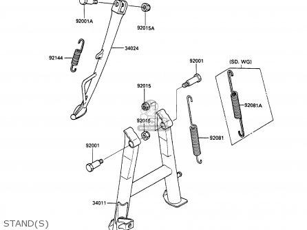Kawasaki 1990 C3: Zx600 parts list partsmanual partsfiche