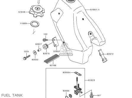 Kawasaki 1990 E2: Kdx200 parts list partsmanual partsfiche
