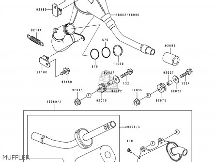 Kawasaki 1990 H1: Kx125 parts list partsmanual partsfiche