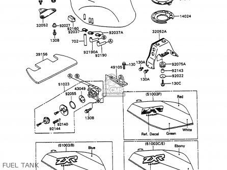 Kawasaki 1990 H2: Zx750 parts list partsmanual partsfiche