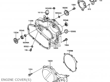 Kawasaki 1990 P3: Kx80 parts list partsmanual partsfiche