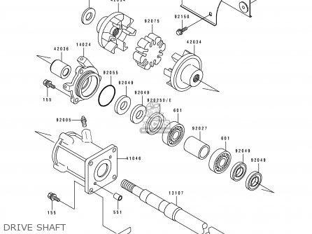 Kawasaki 1991 A15: Js440 parts list partsmanual partsfiche